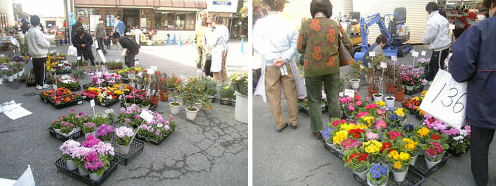 お花の販売コーナー